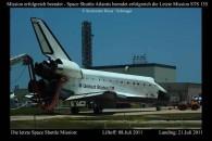 Atlantis nach der erfolgreichen Landung