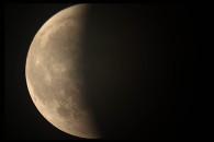 Partielle Phase der Mondfinsternis