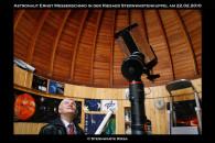 Astronaut Ernst Messerschmidt in der Riesaer Sternwartenkuppel