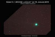 Komet Lovejoy am 15. Januar