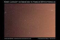 Lovejoy und die Galaxie M31 am Nachthimmel
