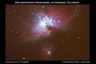 Orionnebel im Teleskop