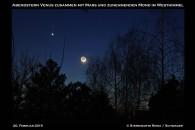 Venus Mond Mars am Nachthimmel