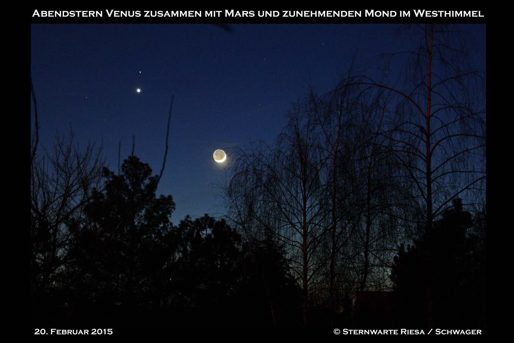 Venus Mond Mars Am Nachthimmel Sternenfreunde Riesa