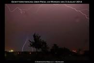 Sehr schöne Blitze zeigten sich in dieser Nacht über Riesa.