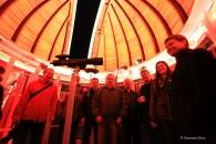 Sternenfreunde aus Radeberg und Gönnsdorf überbringen Geschenke zur Wiedereröffnung.
