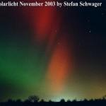 Polarlichter über Riesa 2003