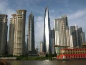 Wolkenkratzer auf Pudong