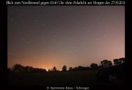 Polarlicht über Riesa in der Nacht vom 26. auf den 27. September