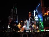 Einkaufsstraße im nächtlichen Shanghai