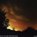Polarlicht über Riesa 2004