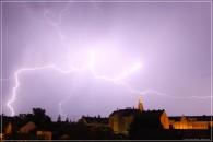 Blitze über Riesa