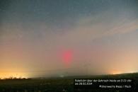 Polarlicht mit hellem Beamer über der Gohrisch Heide