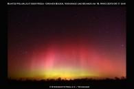 Deutlich visuelles Polarlicht über Riesa!