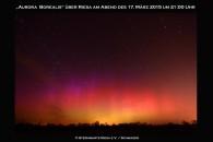 Polarlichter über Riesa im März 2015