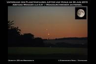 Venus und Jupiter beim Untergang