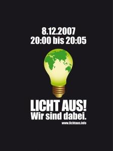 Banner Aktion Licht aus