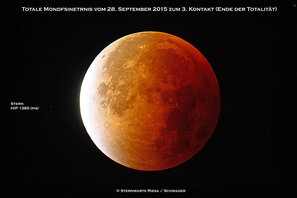 Die Totale Mondfinsternis 2015 in Riesa