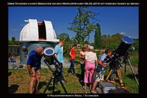 Bei sehr gutem Wetter fand der Merkurtransit statt.