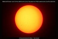 Letzter Blick auf den Merkur bei Sonnenuntergang