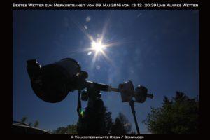 Merkurtansit beobachtung in der Sternwarte Riesa