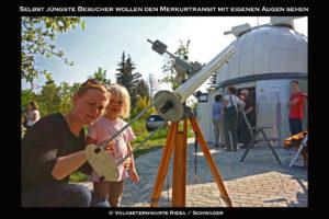 Merkurtransitbeobachtung am Telementor
