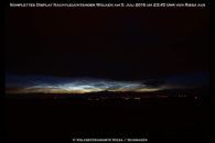 Nachtleuchtende Wolken - immer wieder ein schönes Schauspiel im Sommer