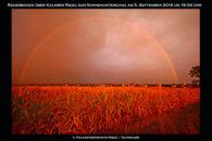 Schöner roter Regenbogen gesichtet.
