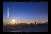Beobachtergruppe Kalkberg mit Mond