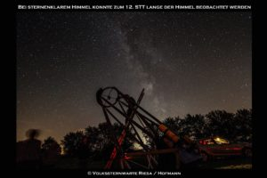 Beobachtung Milchstraße
