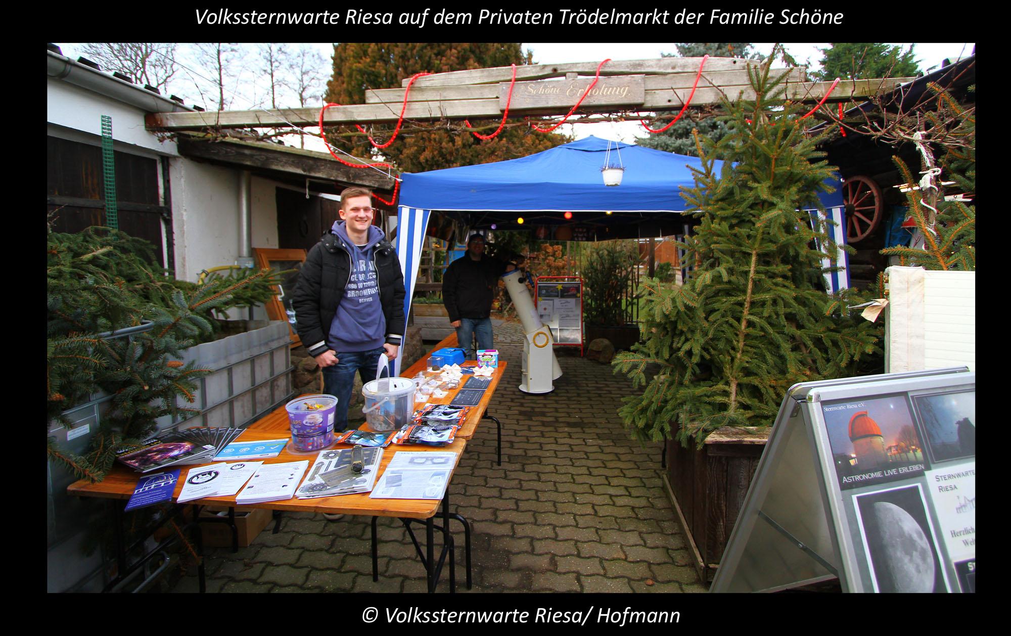 Volkssternwarte Riesa zu Gast auf dem Privaten Trödelmarkt.