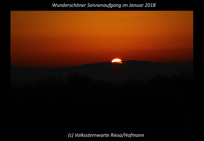 Wunderschöner Sonnenaufgang im Januar 2018