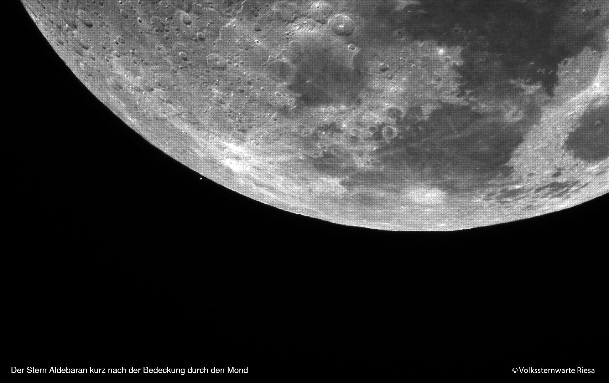 Aldebaranbedeckung durch den Mond