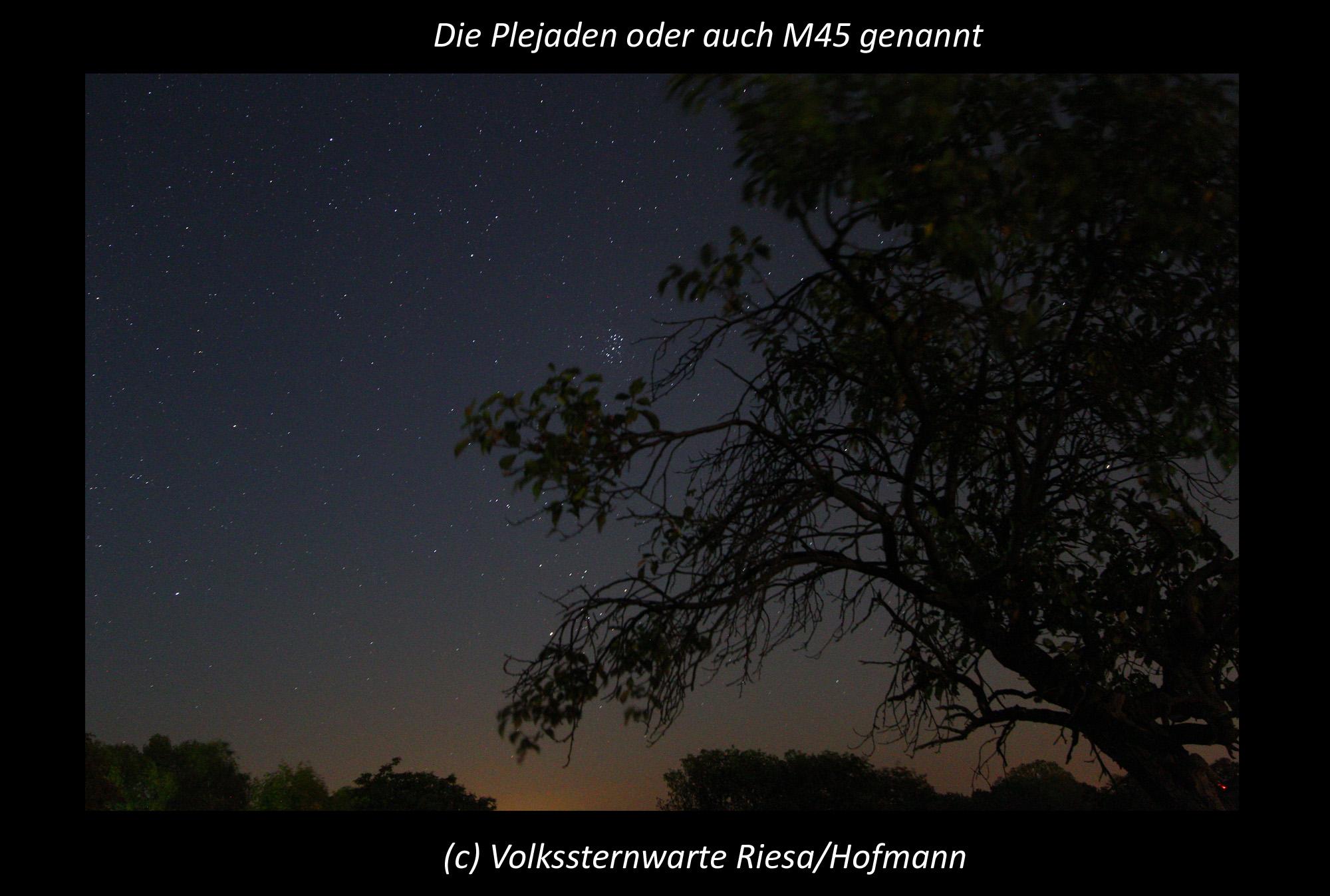 Die Plejaden sind wieder am Sternenhimmel sichtbar