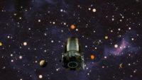 Kepler im Weltall ein Ölgemälde