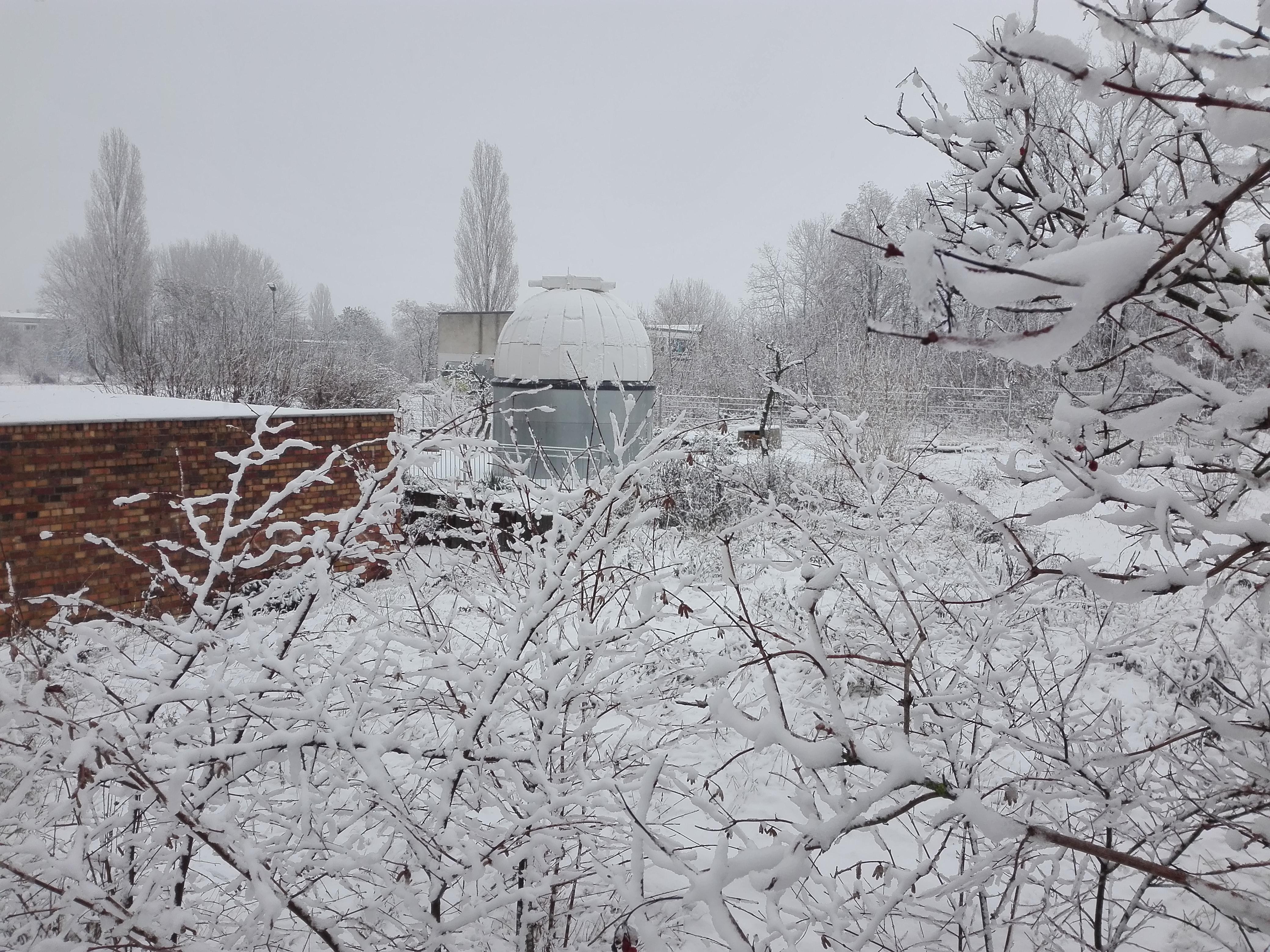 Winter an der Volkssternwarte Riesa