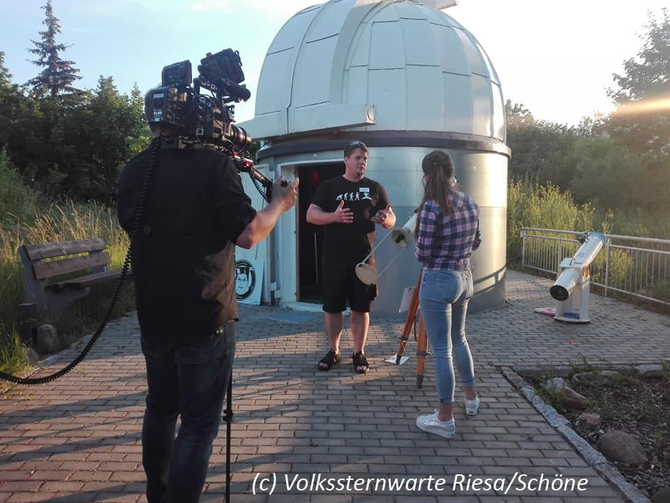 Fernsehdreh an der Volkssternwarte Riesa