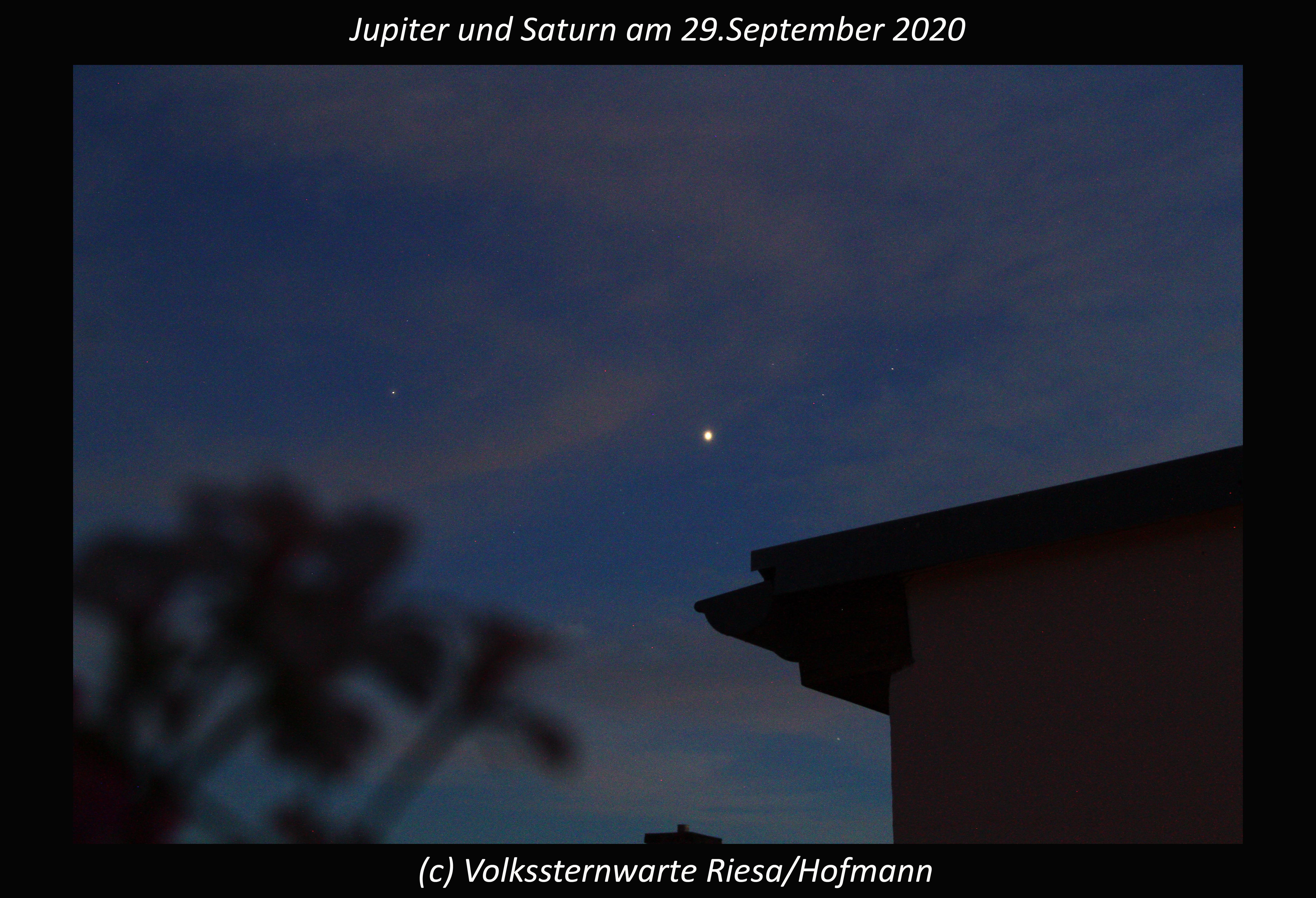 Jupiter und Saturn am Abendhimmel